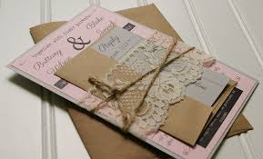 shabby chic wedding invitations twine and lace wedding invitations kraft paper rustic