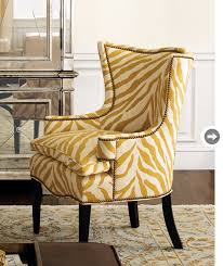 Zebra Accent Chair Zebra Yellow Accent Chair Modern Home Interiors Yellow Accent