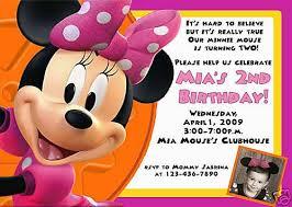 minnie mouse birthday card invitations