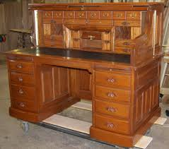 rolltop desk works clark cherry mahogany walnut oakrolltop
