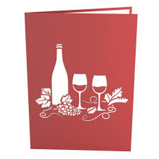 birthday wine wine glass pop up birthday card lovepop