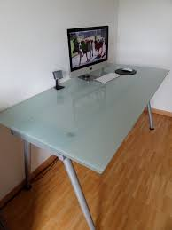 home design ideas creatives artisan ikea glass top desk famous artistic simple creations frameless tempered surfaces speaker mouse keyboards ikea glass
