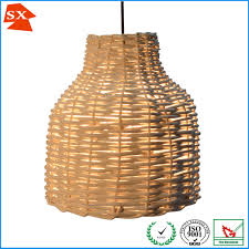 Wicker Light Fixture by Vintage Chic Natural Ginger Woven Wicker Rattan Hotel Tea Table