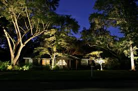 low voltage strip lighting outdoor landscape landscape lighting behind the house at night with low