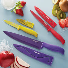 farberware 6 piece stick resistant chef knife set walmart com