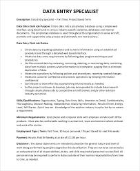 data entry resume sle data entry resume 6 exles in pdf word