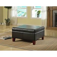 Ottoman Faux Leather Bed Luxury Large Black Faux Leather Storage Ottoman Table Family Room