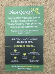 Olive Garden Family Of Restaurants Olive Garden Targeted In Minimum Wage Animal Welfare Protests Eater