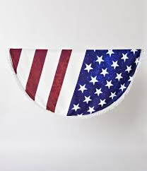 Why Is The American Flag Red White And Blue Red White U0026 Blue American Flag Round Fringed Picnic Blanket