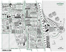 Chicago Map Art by Uptown Map U2013 Joe Mills