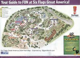 6 Flags Map Six Flags Great America Map Six Flags Great America U2022 Mappery