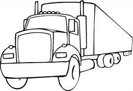 cartoon drawings trucks coloring fire truck funny cartoon