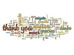 conceptual thank you word cloud isolated for business or