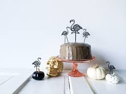 diy skeleton flamingo cake toppers salty canary