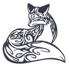 tribal fox tattoo design tattoos that i love clipart library
