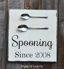 Wedding Gift Table Ideas Amazon Com Spooning Since Personalized Wedding Sign Kitchen