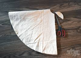 make a no sew ruffled dropcloth christmas tree skirt the diy mommy