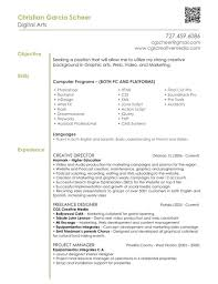 Best Java Resume Graphic Designer Resume Objective Free Resume Example And
