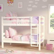 Viv Rae Abby Twin Over Twin Bunk Bed  Reviews Wayfair - Leons bunk beds