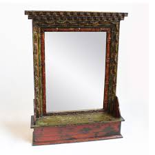 carved wood framed wall tibet carved wood painted mirror frame free standing or wall