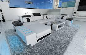 sofa mit led beleuchtung mega sofa bellagio u form mit led beleuchtung weiss schwarz