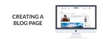 creating a blog page kadence themes