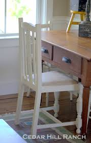 How To Make Furniture Look Rustic by New Look Old Chairs Cedar Hill Farmhouse