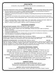 Paramedic Resume Sample Firefighter Resume Firefighter Sample Resume Http
