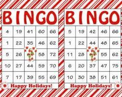 christmas bingo cards 2017 template design