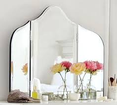 tri fold bathroom mirror delightful tri fold bathroom mirror ideas the maisie vanity mirror