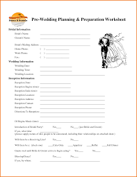 4 wedding worksheets expense report