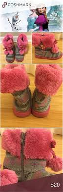 s sweater boots size 12 listing disney and elsa sweater boots pink and gray