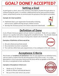 completed definition definition of done statement