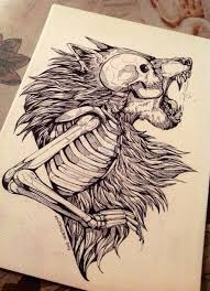 wolf skull skull tattoo tattoo idea wolf tattoo cool design modern