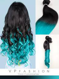 vpfashion hair extensions blue mermaid ombre human hair extensions clip in cs029 vpfashion
