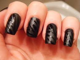 picture 1 of 4 black nail art design ideas photo gallery