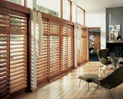 Ideas For Window Treatments by Wood Blinds For Large Windows Window Treatments Design Ideas
