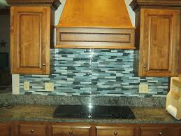 fancy glass backsplash tile set in home interior design concept