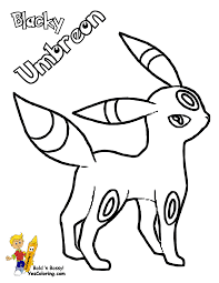 umbreon coloring pages sheets 5863
