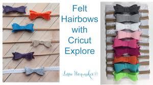 felt hair felt hair bows with cricut explore