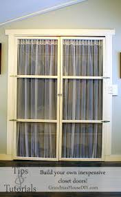 Diy Closet Door How To Build Your Own Inexpensive Closet Doors Grandmas House Diy