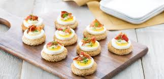 and easy canapes egg and bacon canapés eggs ca