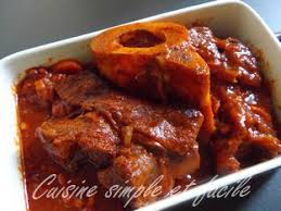 cuisiner le jarret de boeuf jarret de boeuf à la sauce tomate cuisine simple et facile