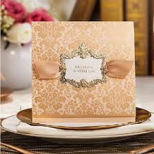 Cheap Wedding Invitations Online High Class Wedding Invitations 2014 Elegant Golden Flower Printing