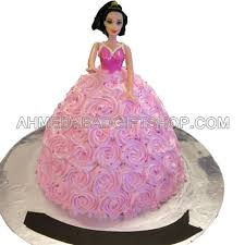 doll cake princess cake in ahmedabad