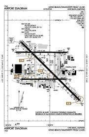 long beach airport lgb airfield diagram