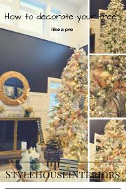 how to decorate your christmas tree like a pro style house