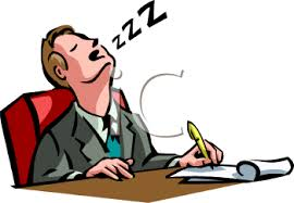 Sleeping At Your Desk At Desk Clipart