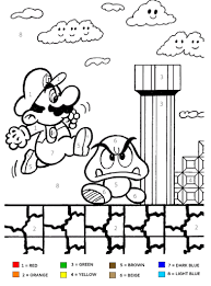 super mario brothers kids color number coloring good