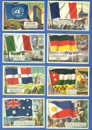 Flag Of The World 1956 Topps Flags Of The World 80 United Nations